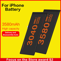5pcs lot Original Mobile Phone Battery For iPhone 6 6s 7 8 Plus Replacement Battery