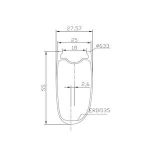 Image 3 - LIENGU hohe TG 250 ℃ v bremse track 700C 55mm rennrad felge 18mm innere asymmetrische tubeless v bremse fahrrad rad UD 12K 3K Köper