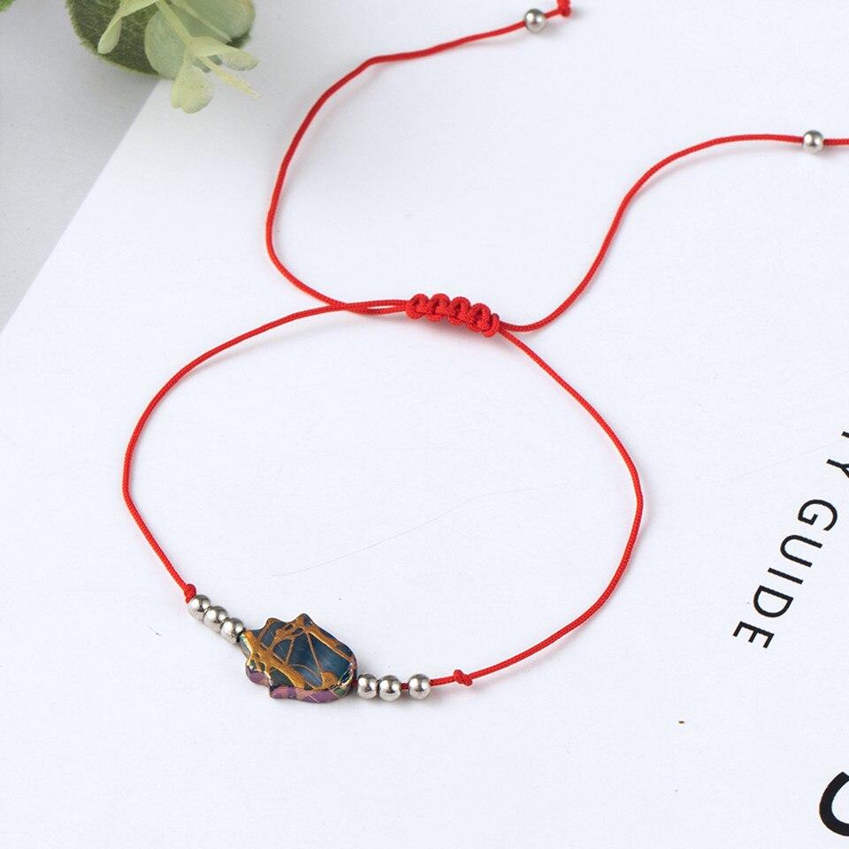 Boho Ankle Bracelet Bohemian Colorful Heart Beads Jesus Cross Turtle Butterfly Infinity Triangle Anklet Women's Leg Bracelet (47)