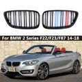 1 пара M Цвет/глянец Черный Автомобильный передний бампер решетка для почек для BMW 2 серии F22 F23 F87 M2 автомобильный Стайлинг авто аксессуар