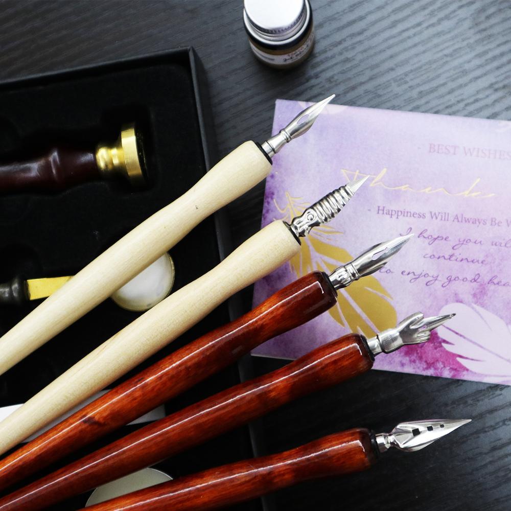 1/5Pcs Pen Nibs For Calligraphy Writing Cartoon Comic Drawing Dip Pen Wood Holder Supplies