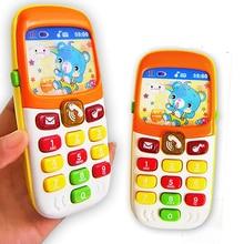 Детский телефон электронная игрушка детский мобильный телефон музыка Детский сотовый телефон МОДЕЛИРОВАНИЕ телефон обучающая игрушка для младенцев лучший подарок