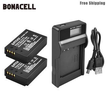 цена на Bonacell 1800mAh LP-E12 LPE12 LP E12 Camera Battery+LCD Charger For Canon EOS M10 Kiss X7 Rebel SL1 EOS 100D DSLR Battery L50