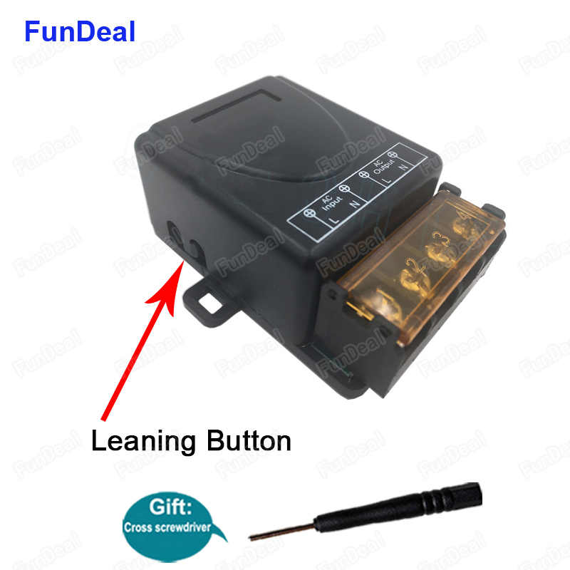 433 Mhz AC 220V 1CH 30A kablosuz RF röle alıcı modülü su pompası motoru ile uzaktan kumanda anahtarı çalışmak 433 Mhz uzaktan kumanda