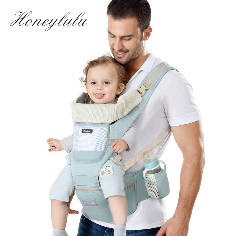 Adjustable Infant Baby Toddler Carrier Hip Seat Backpack with Reflective Strip