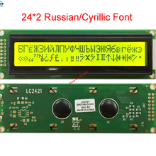 2402 242 24x2 lcd display with Russian cyrillic Font LC2421