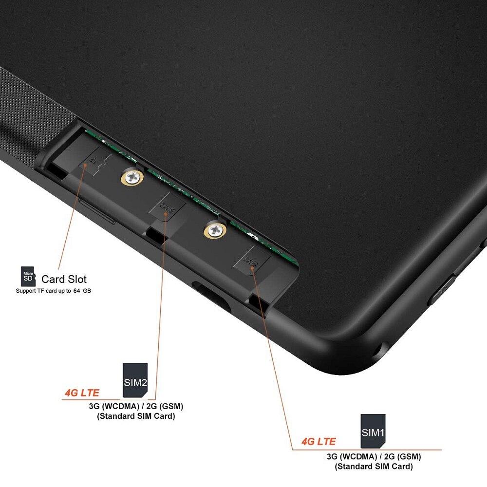 Boîtier en métal 10 pouces Octa Core tablette 3G 4G FDD LTE 6GB RAM 128GB ROM 1280*800 double caméras 8.0MP Google Android 9.0 OS GPS - 6