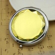 Мини кристалл красоты карманное зеркало макияж портативный компактный круглый складной зеркало для макияжа