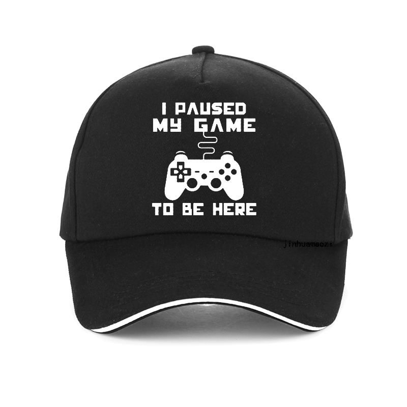 Gamer Baseball Cap Men I Paused My Game To Be Here Tops Interesting Play Computer Hat High Quality Snapback Hats Bone
