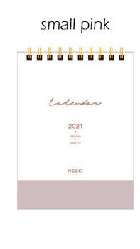2021 NEW Kawaii Cute 2 Size Solid Color Kfaft Calendar Coil Schedule Creative Desk Table Dates Reminder Timetable Planner sl2545 9