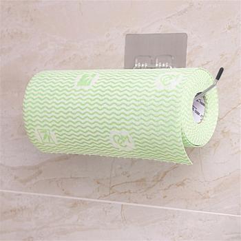Uchwyt na ręcznik papierowy półka ze stali nierdzewnej bez wiercenia regał magazynowy do kuchni toaleta wc wieszak na ręczniki do przechowywania tanie i dobre opinie CN (pochodzenie) Poliester paper towel holder
