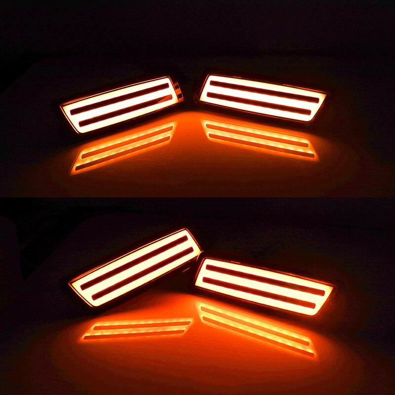 Ijdm âmbar led luz de marcador lateral
