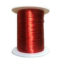 100m 0.2 millimetri QA Smaltato Filo di Rame Filo Magnetico Per Induttanza Bobina Relè Contatore Elettrico Bobina di Avvolgimento Rosso