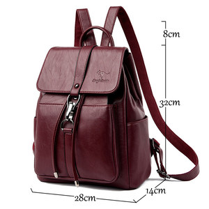 Image 2 - Women Backpacks mochila feminina school bag For Girls women traveling backpack Sac A Dos high quality leather ladys Shoulder Bag