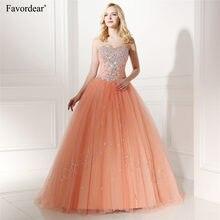 Favordear 2020 querida sparkly beading quinceanera vestido de baile vestido pêssego vestido de 15 anos quinceanera doce 16 vestidos