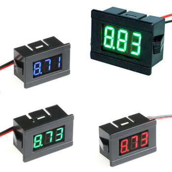 0.36in 4.5V to 30V DC Digital Voltmeter Voltage Panel Meter Red/Blue/Green For 6V 12V Electromobile Motorcycle Car image