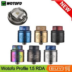 Image 1 - Newest Original Wotofo Profile 1.5 RDA Atomizer 24mm Vape Tank 0.13/0.15/0.16ohm Mesh Coil Rebuilding Atomizer VS Profile RDA