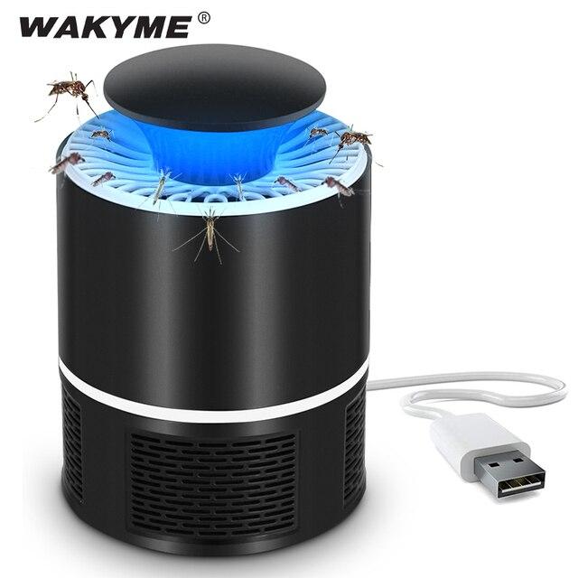 WAKYME 5 فولت البعوض القاتل مصباح USB الذباب فخ مصباح المنزل داخلي مكافحة مبيد حشري UV ضوء الكهربائية مكافحة البعوض طارد مصباح
