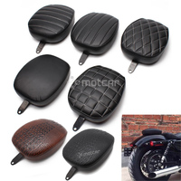 for Harley Sportster XL 1200 883 72 48 Forty-eight 2010-2015 Motorcycle Black Passenger Rear Seat Pad Leather Pillow 1pcs
