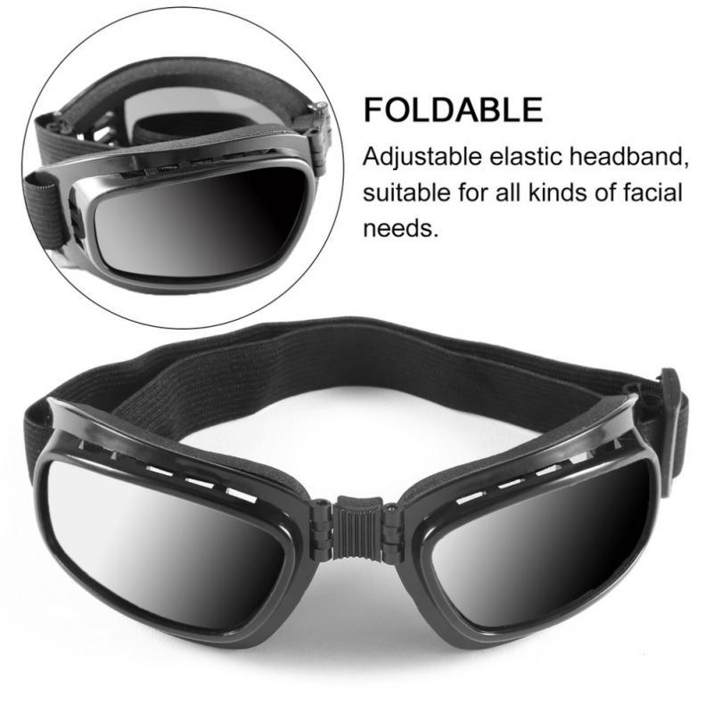 Folding Motorcycle Glasses Windproof Ski Goggles Snowboard Anti Radiat UV Color Off Road Racing Eyewear Adjustable Elastic