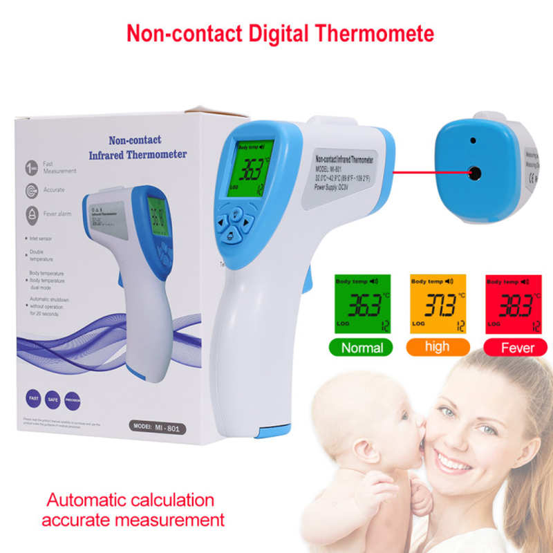 Adult Digital Termomete Infrared Forehead Body Thermometer Gun Baby Non-contact Termometro Measurement Device Thermometer