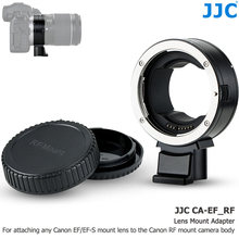 JJC EF-EOS R Auto Focus Mount Adapter Converter for Canon EF EF/S Lens to RF Mount Camera EOS R RP R5 R6, Removable Tripod Foot