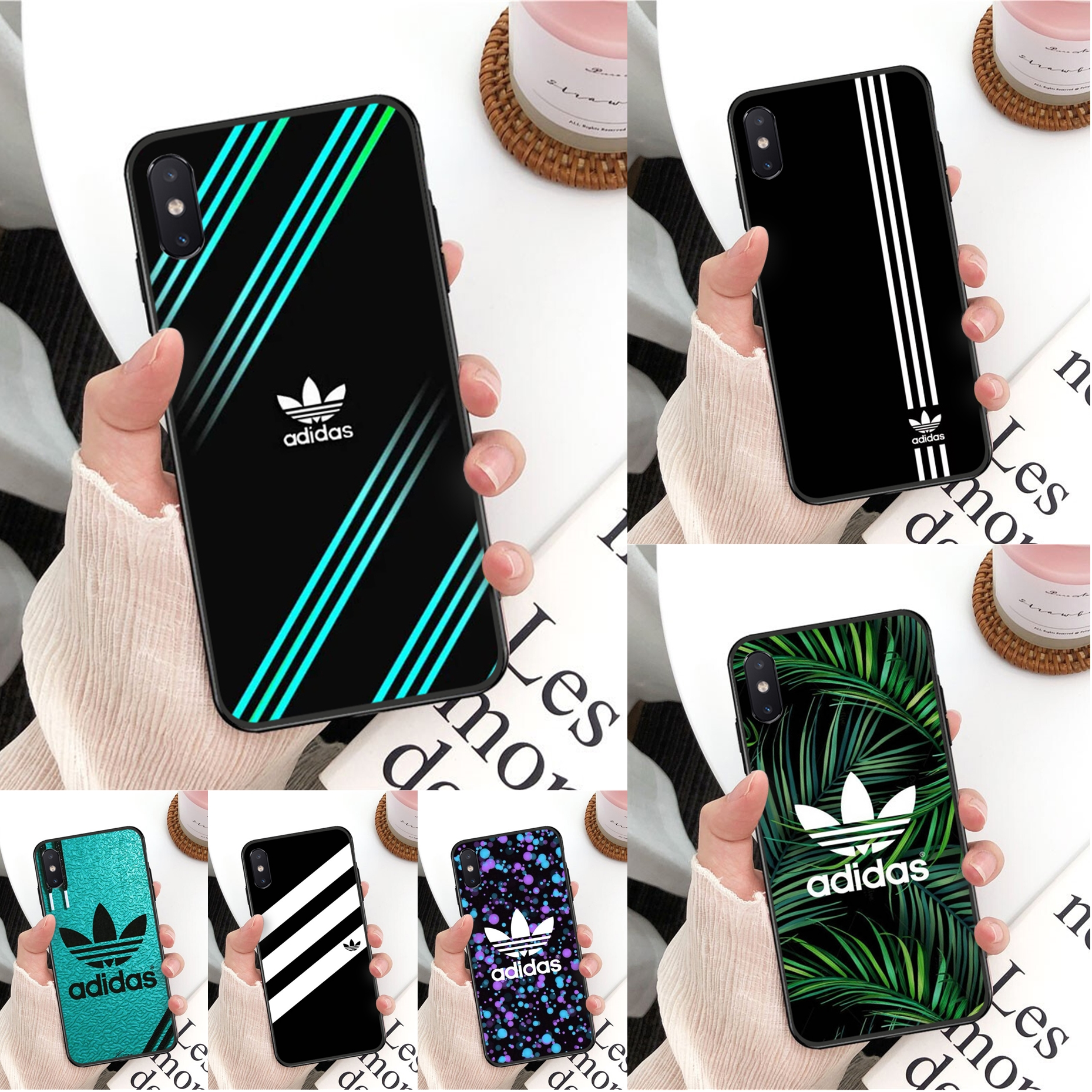 Leaves Three Lines Fashion Pattern Pattern TPU Soft Phone Case For IPhone 11 Pro XS MAX 8 7 6 6S Plus X 5 5S SE XR Case