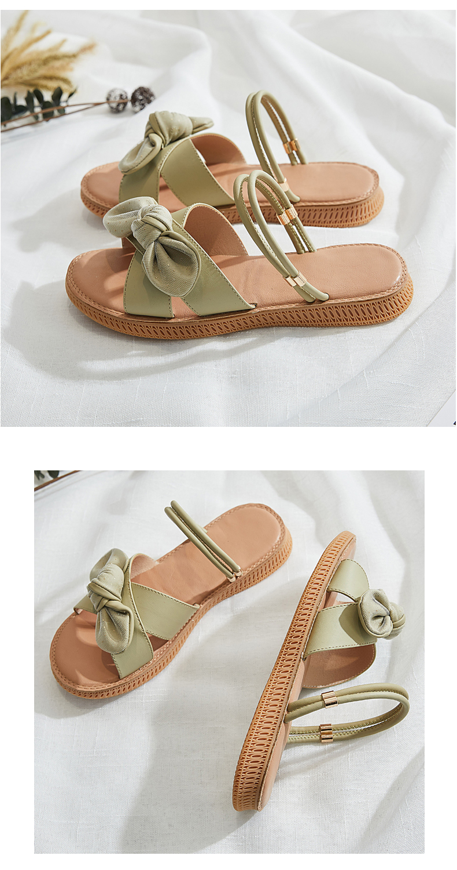 Grosso soled velcro flip flop sapatos femininos