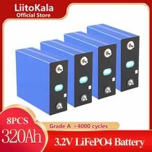 8個liitokala 3.2v 150Ah 100Ah 200ah 280ah 310ah 320ah LifePo4バッテリー12v 24vソーラーインバータ電気自動車ゴルフccar