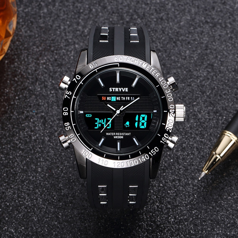Unique montre pour hommes multifonction LED numérique sport montre haut marque noir montre pour hommes cadeau pour hommes édition limitée montre LED