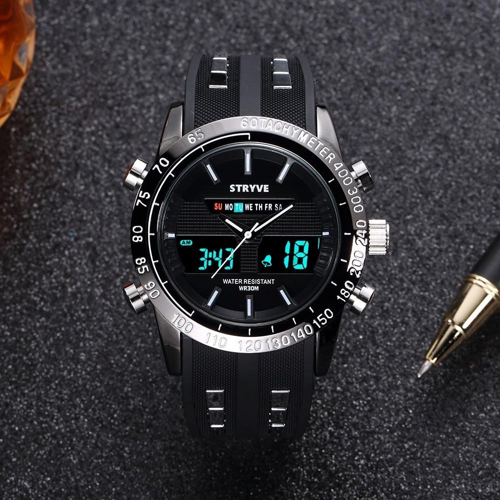Unique montre pour hommes multifonction LED numérique sport montre haut marque noir montre pour hommes cadeau pour hommes édition limitée montre LED