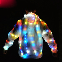 LED Growing Lighting Robot Suits Colorful Led Luminous Costume Clothes Dancing Clothing Men Event Party Supplies Stage Props