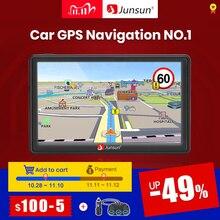 "Junsun D100 No.1 7"" HD Car GPS Navigation FM Bluetooth AVIN Navitel latest Europe Map Sat nav Truck gps navigators automobile"