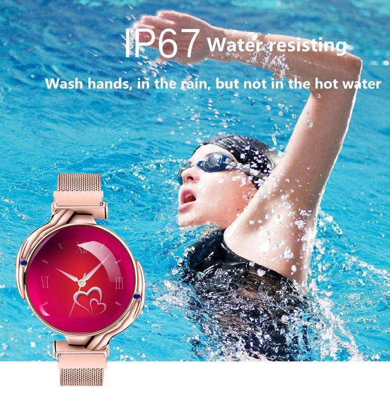 Fashion Women Smart Watch Waterproof Heart Rate Blood Pressure Monitor Smartwatch Gift For Ladies Watch Bracelet