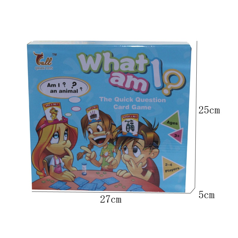 Kids Funny Toys The Quick Question of What am I Cards Board Game Funny Gadgets Novelty Toys For Children (3)