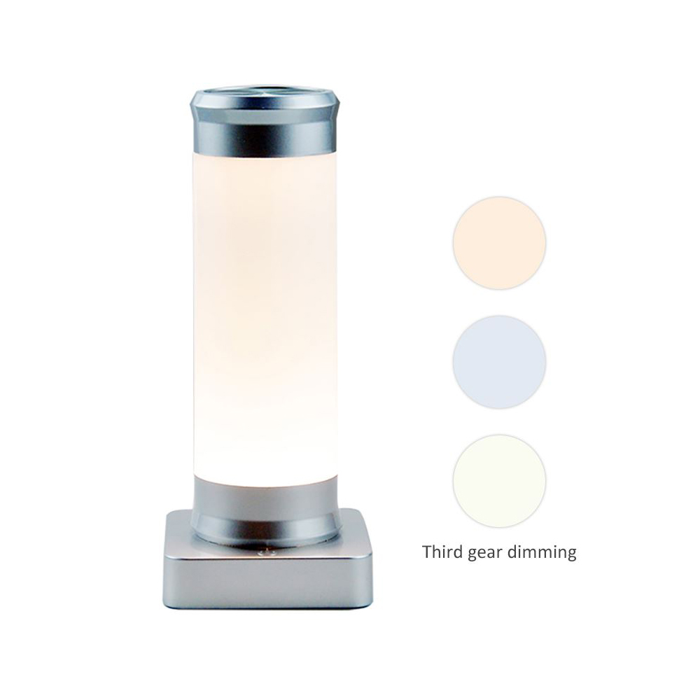 LED Table Lamp Reading Bedside Lamp USB Rechargeable Dimming Night Lamp Touch Cup Shape Lamp