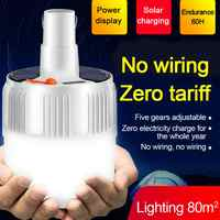 USB Portable Rechargeable Light Bulb For Outdoor Camping Dimmable Lanterns Emergency Lights For BBQ Hanging Night Light US Plug
