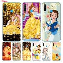 TPU Silicone Cover Disney Belle Princess For Huawei P40 P30 P20 Pro P10 P9 P8 Lite E Plus 2019 2017 Phone Case