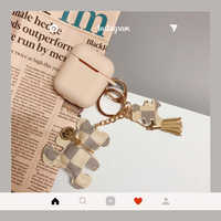 Luxury brand Square Bear soft silicon Wireless Earphone Charging Cover for Apple AirPods 1 2 metal Bluetooth Headset case funda