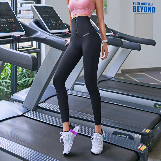 2020 Yoga Pants Stretchy Sports Best Black Leggings High Waist Compression Tights  Push Up Running Women Gym Fitness Leggings 4