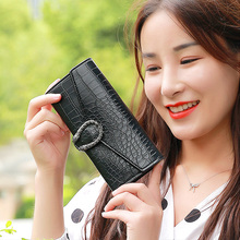 2019 Luxury Brand Women Wallets Long Fashion Fastener Hasp PU Leather