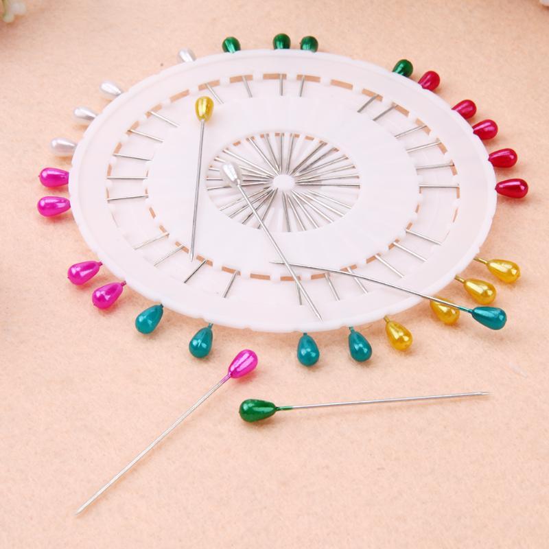 30 шт/480 шт красочные круглые жемчужные прямые головки шпильки локализация Иглы Швейные шпильки DIY Свадебный корсаж аксессуары для одежды