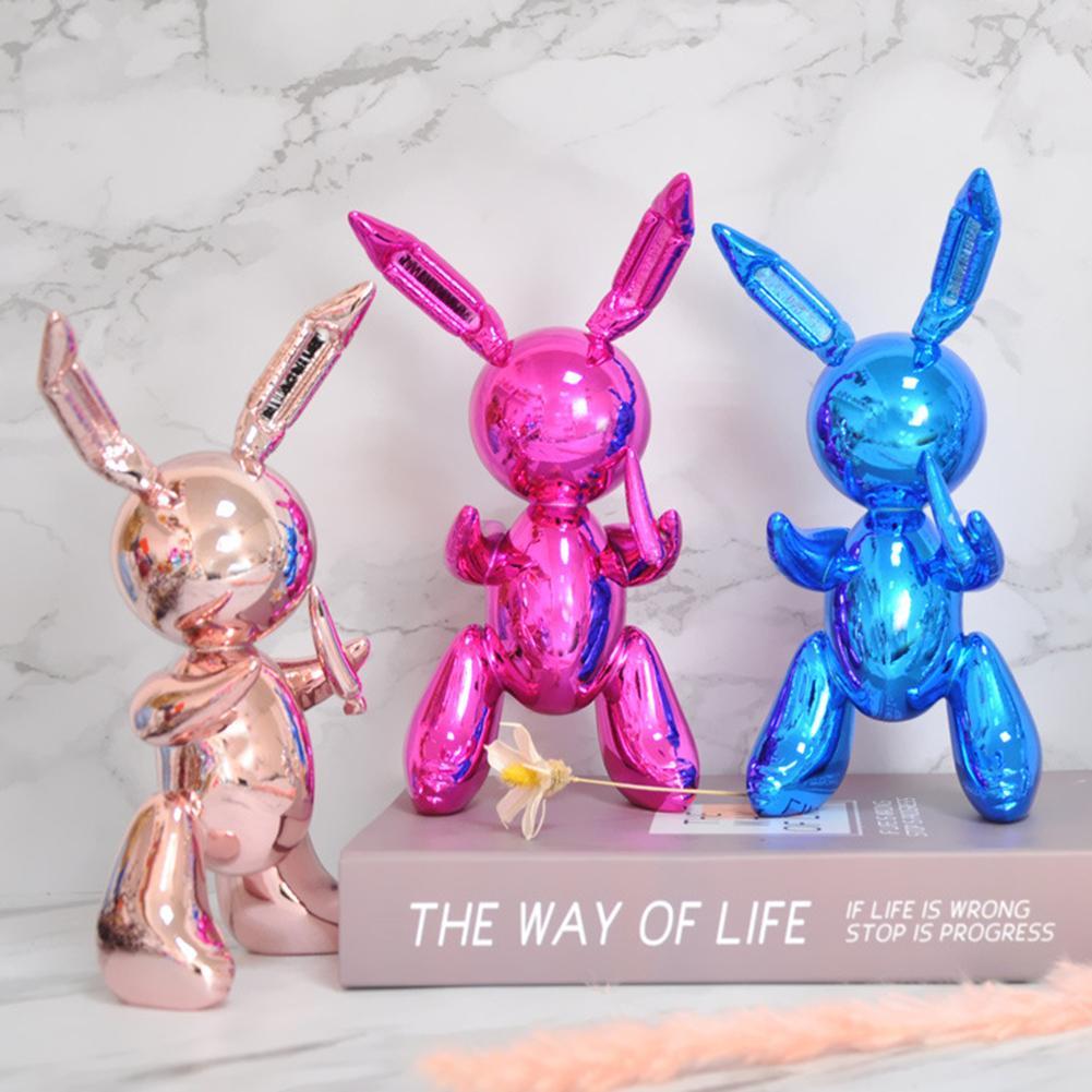 Balloon Rabbit Cute Animals Resin Sculpture Wedding Decor Balloon Rabbit Nordic Style Moder Home Decoration Accessories