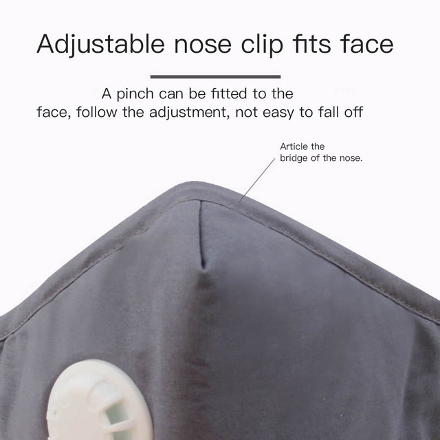 2020 New Cotton Washable Mouth Mask Anti Haze Dust Mask Nose Filter Windproof Face Muffle Bacteria Flu Fabric Cloth Respirator 4