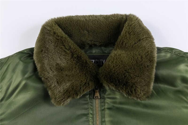 Для мужчин зимняя куртка из плотного флиса Курточка бомбер пуховые парки в стиле военно-воздушные силы, армия куртка Для мужчин верхняя одежда Повседневное грузовой куртка-пилот пальто