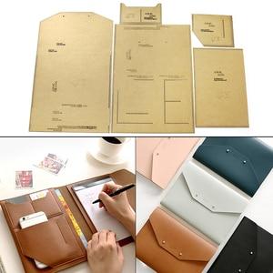 1Set DIY Kraft Paper Template Clutch Bag Wallet Passport Bag Leather book Set Leather Craft Pattern DIY Stencil Sewing Pattern
