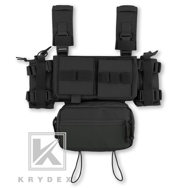 KRYDEX MK3 Modular Tactical Chest Rig Chassis Spiritus Airsoft Hunting Military Tactical Carrier Vest w/ 5.56 223 Magazine Pouch 4
