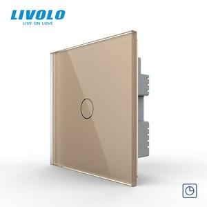 Image 4 - Livolo настенный светильник с сенсорным выключателем, 220 В, черная стеклянная панель, дистанционные беспроводные выключатели, Затемняющая занавеска, управление таймером