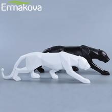 Animal-Figurine Desktop-Decoration Panther-Statue Gift Leopard-Sculpture Geometric-Style