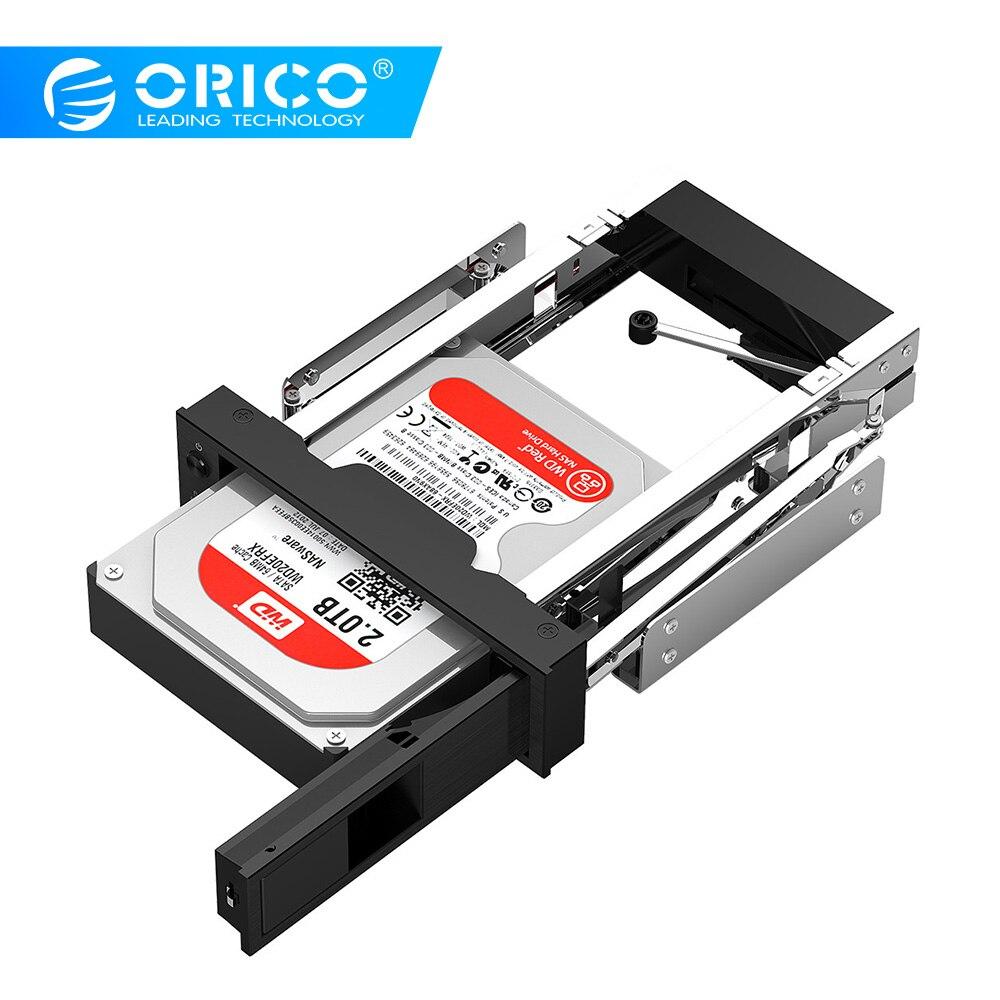 オリコハードドライブキャディ 3.5 インチ 5.25 ベイステンレス内部ハードドライブ取付ブラケットアダプタ 3.5 インチ SATA Hdd モバイルフレーム -